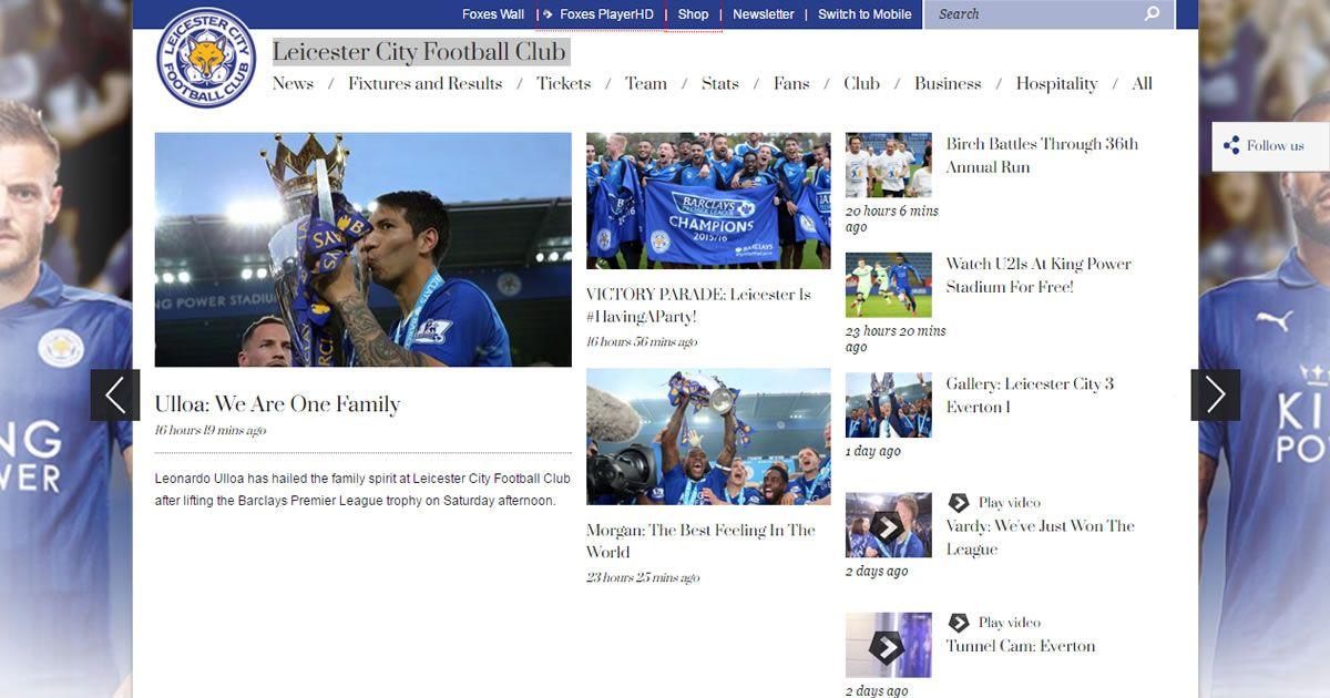 Leicester City FC latest news  photos and videos