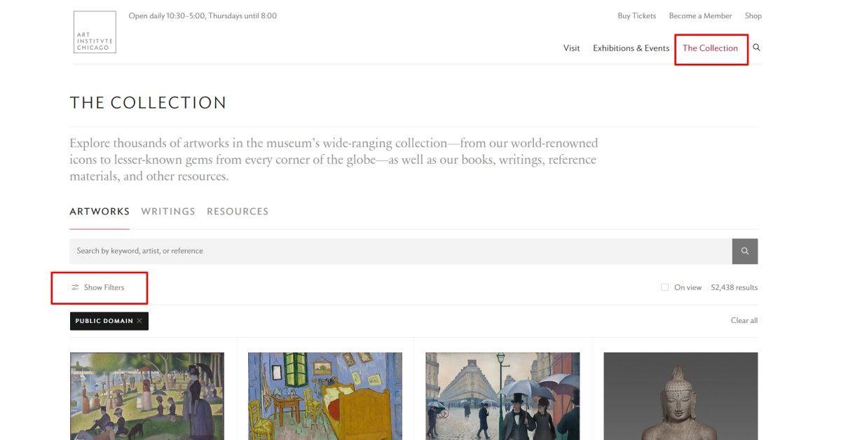 シカゴ美術館でも芸術作品がパブリックドメインでダウンロードOKに
